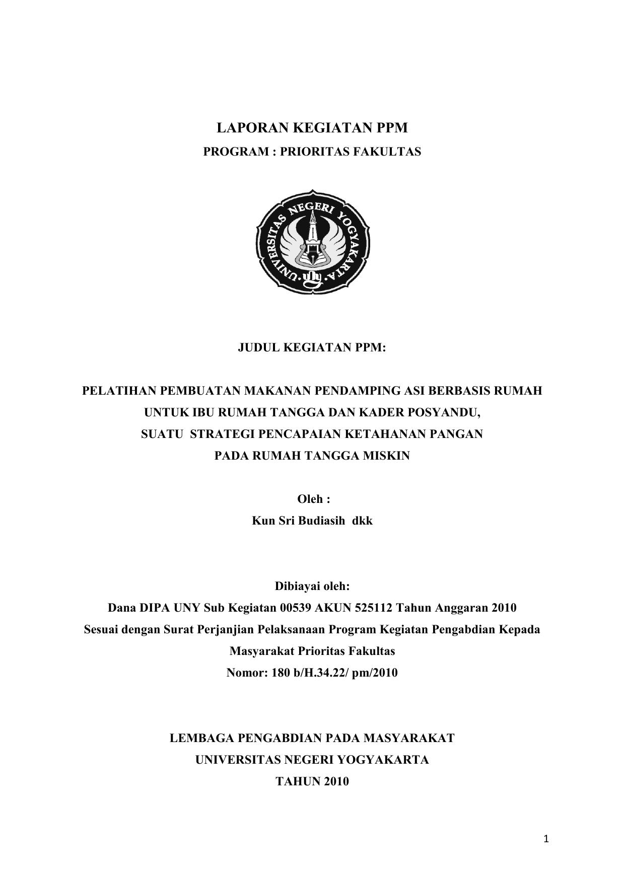 Laporan Kegiatan Ppm Staff Site Universitas Negeri Yogyakarta