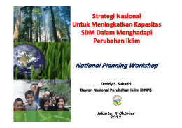 National Planning Workshop