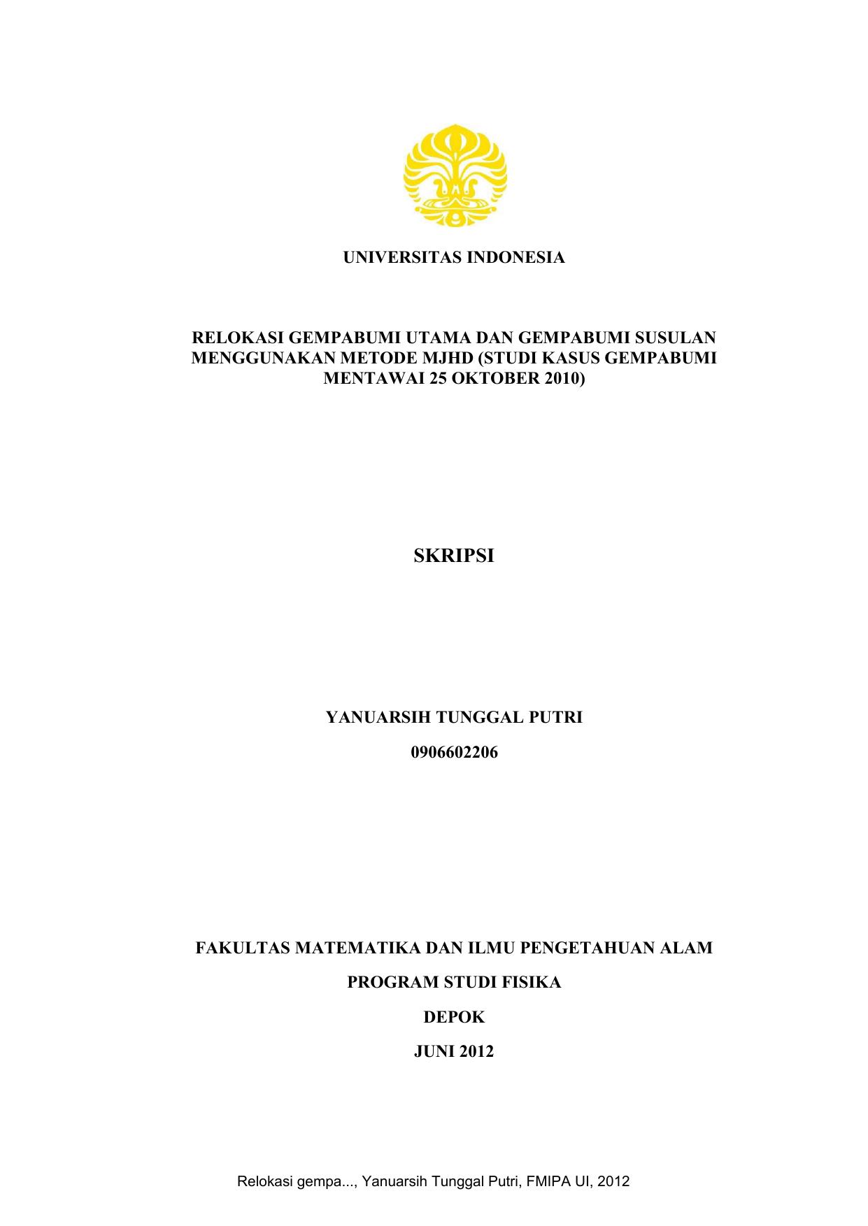 Skripsi Perpustakaan Universitas Indonesia