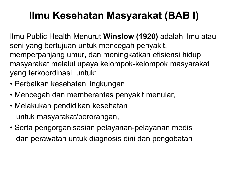 Ilmu Kesehatan Masyarakat