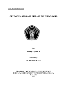 glycogen storage disease type iii (gsd iii)