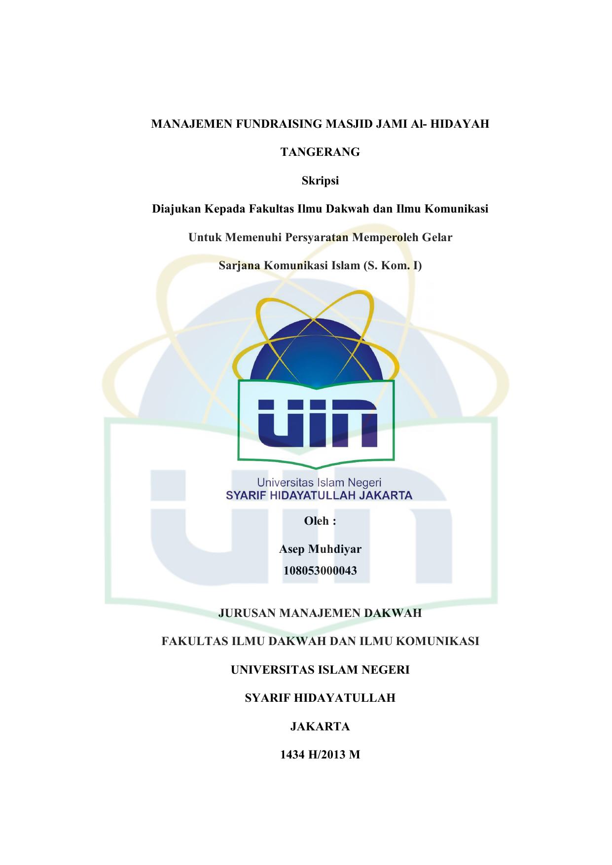 Manajemen Fundraising Masjid Jami Al