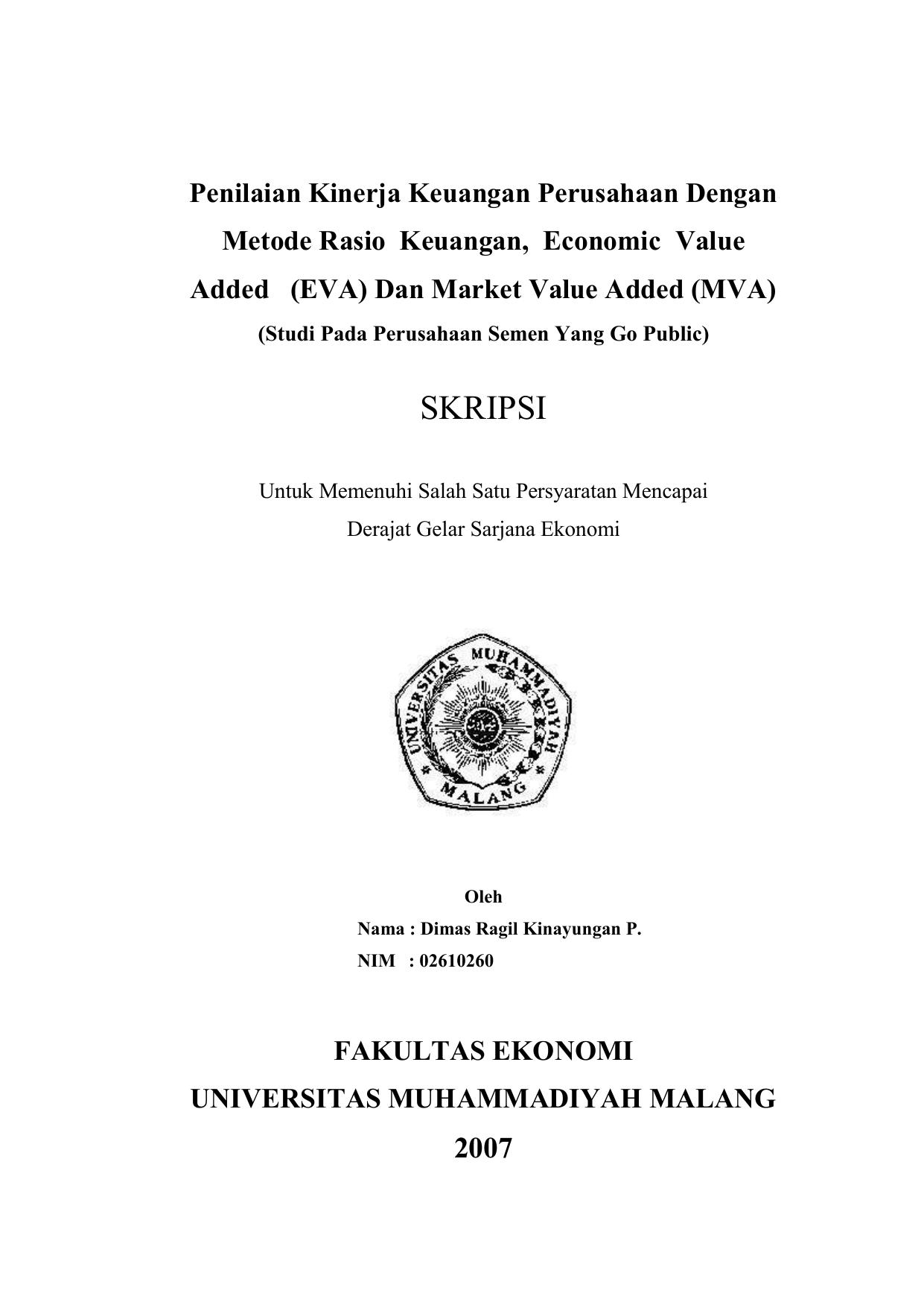 Penilaian Kinerja Keuangan Perusahaan Dengan