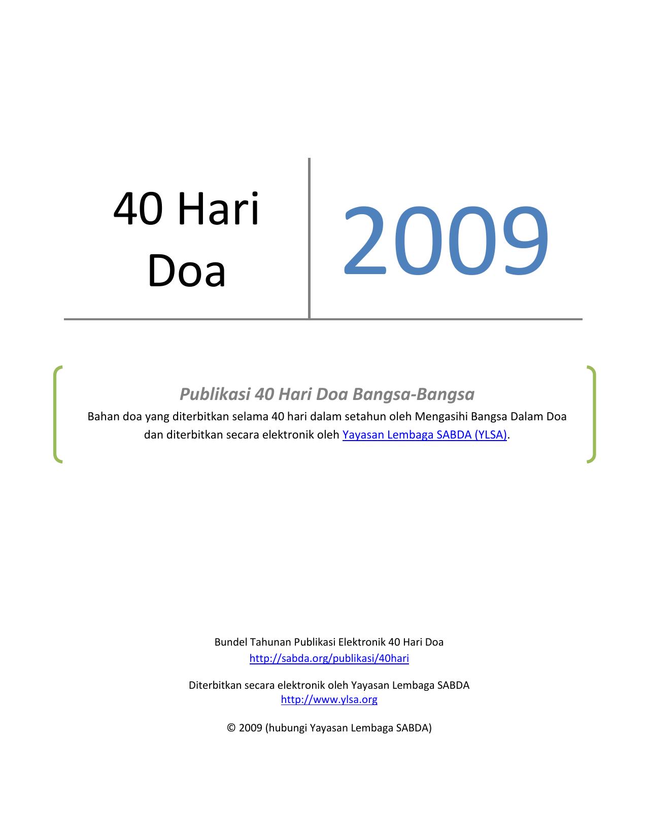 40 Hari Doa Sabda