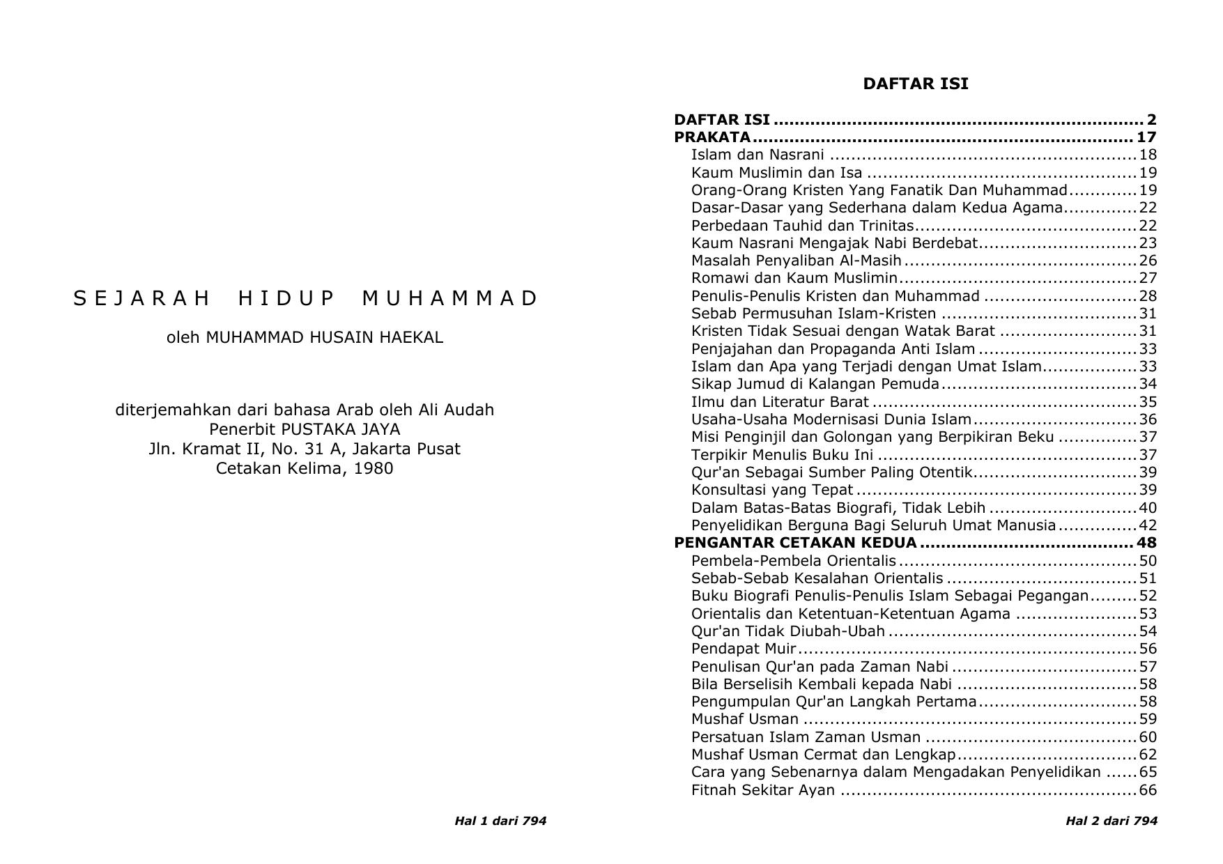 Sejarah Hidup Nabi Muhammad Saw
