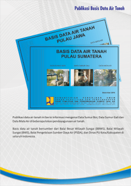Publikasi Basis Data Air Tanah