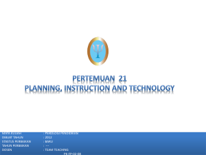 Instructional Planning: Teacher