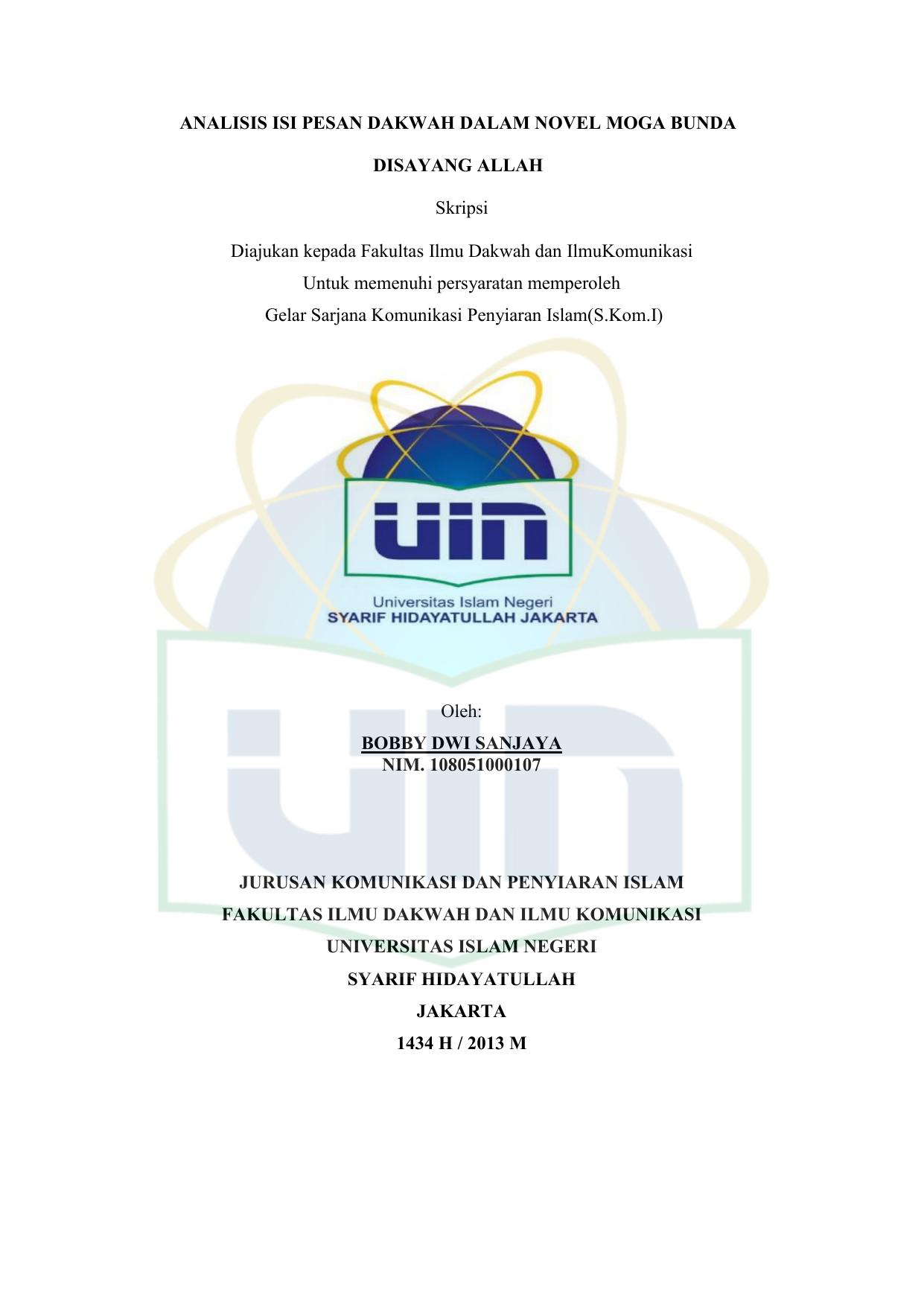 Judul Skripsi Komunikasi Penyiaran Islam Ide Judul Skripsi Universitas