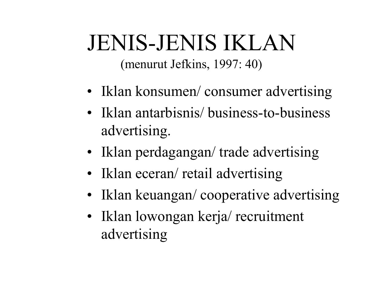 Jenis Jenis Iklan