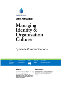 Modul Managing Identity and Organization Culture [TM3]