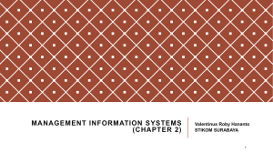 Management information systems (chapter 1)