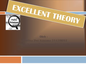 Excellent Theory - Theory PR Fikom UK Petra