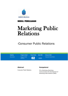 C. The Development of Marketing Public Relations