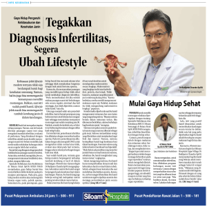Tegakkan Diagnosis Infertilitas, Ubah Lifestyle
