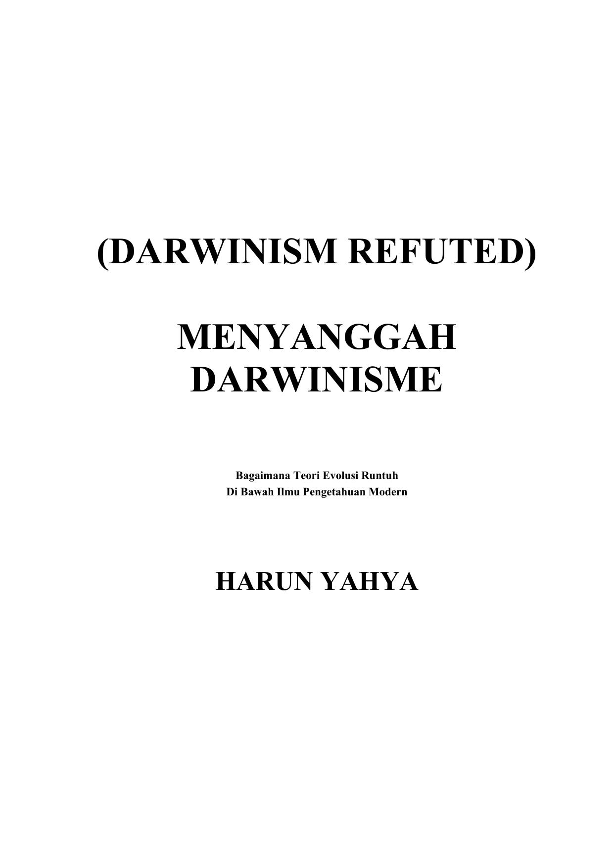 Menyanggah Darwinisme Rtf