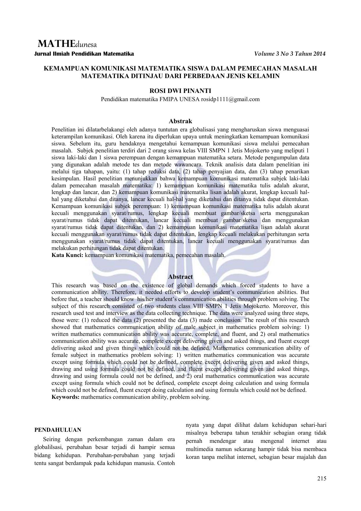 Skripsi Matematika Terapan Pdf Pejuang Skripsi