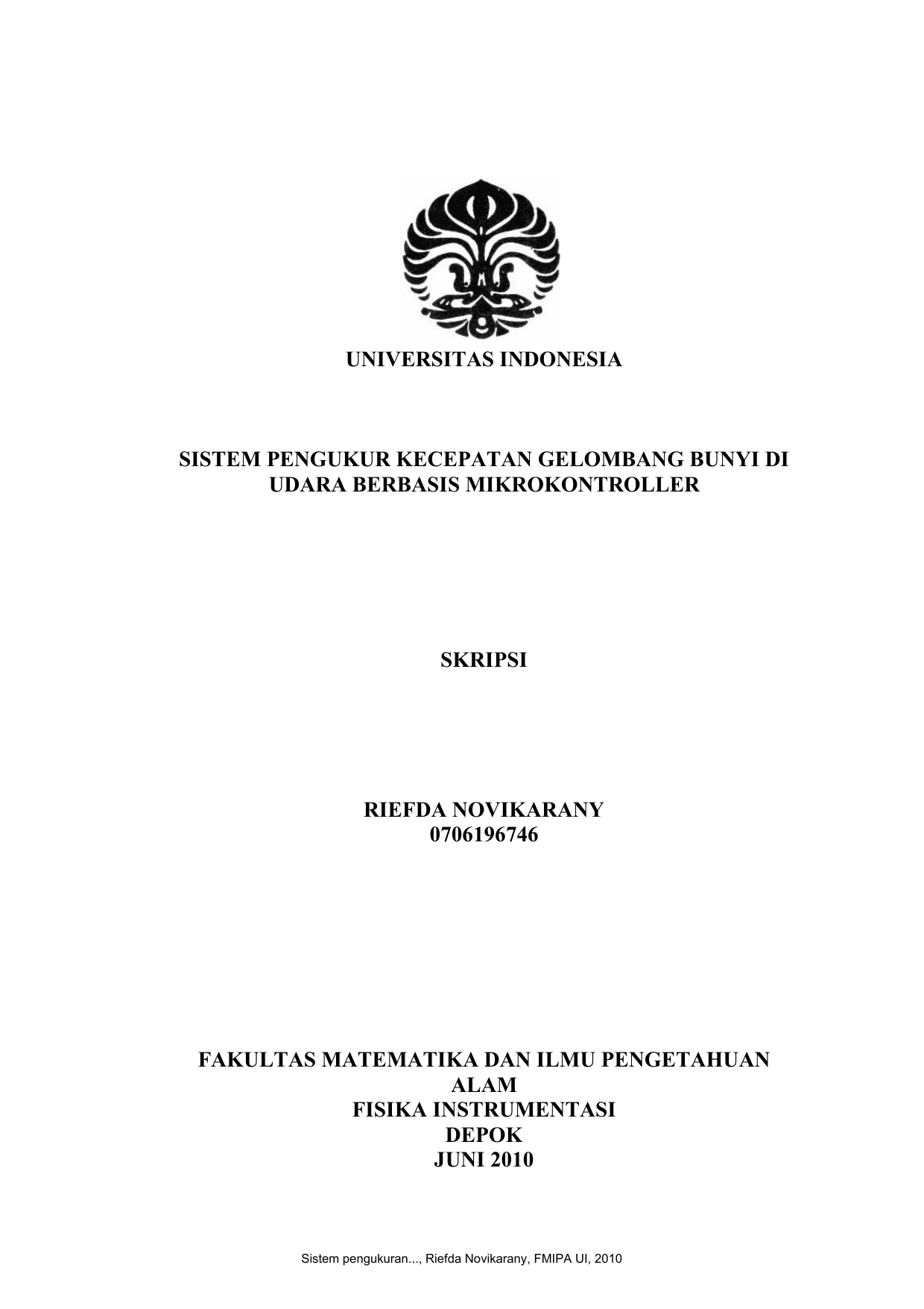 Skripsi Fisika Instrumentasi Ide Judul Skripsi Universitas