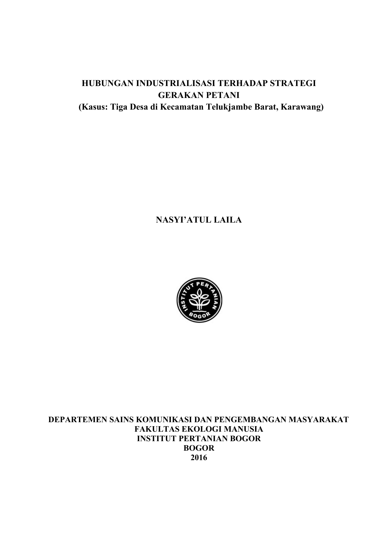 Kasus Tiga Desa Di Kecamatan Telukjambe Barat