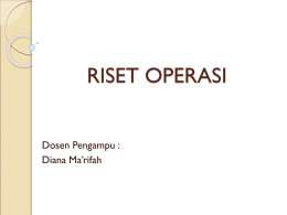 riset operasi - WordPress.com
