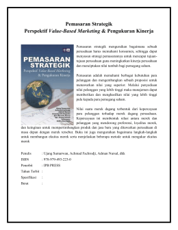 Pemasaran StrategikPerspektif Value