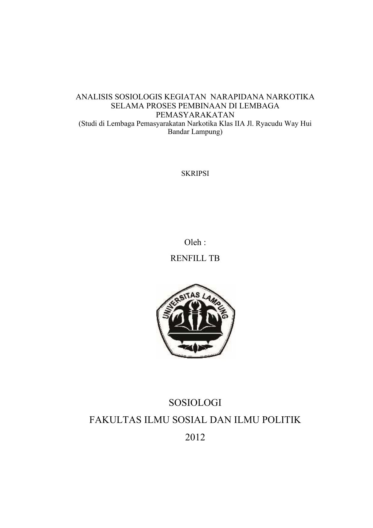 Judul Proposal Sosiologi Lakaran