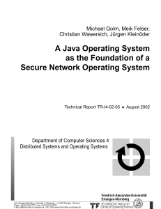 A Java Operating System as the Foundation of a Secure Network