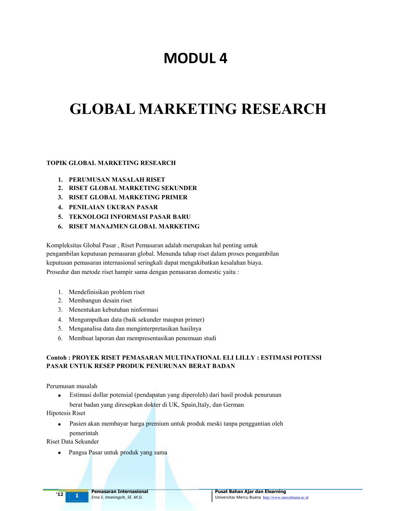 Modul 4 Pi Global Marketing