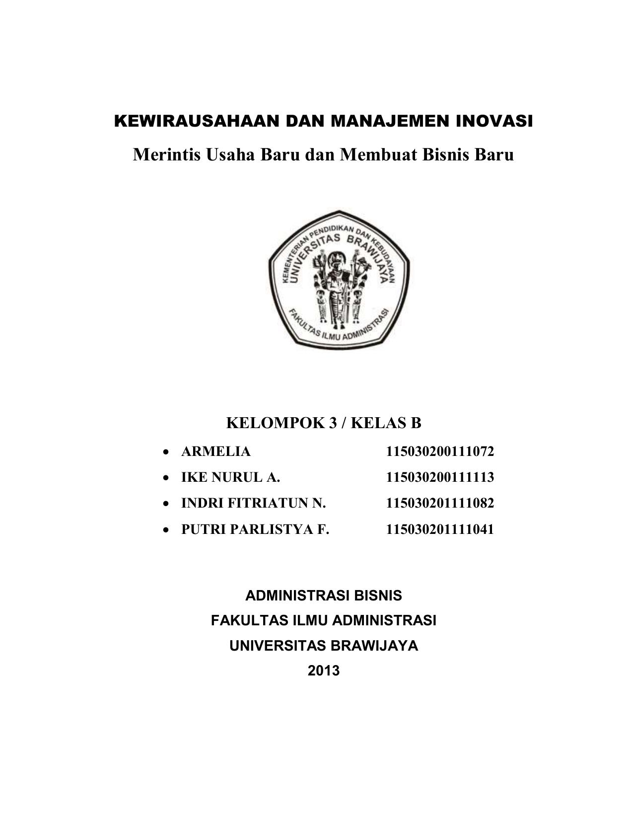 Makalah Universitas Brawijaya