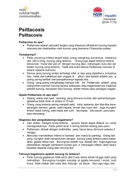 Psittacosis (Indonesian) - the NSW Multicultural Health