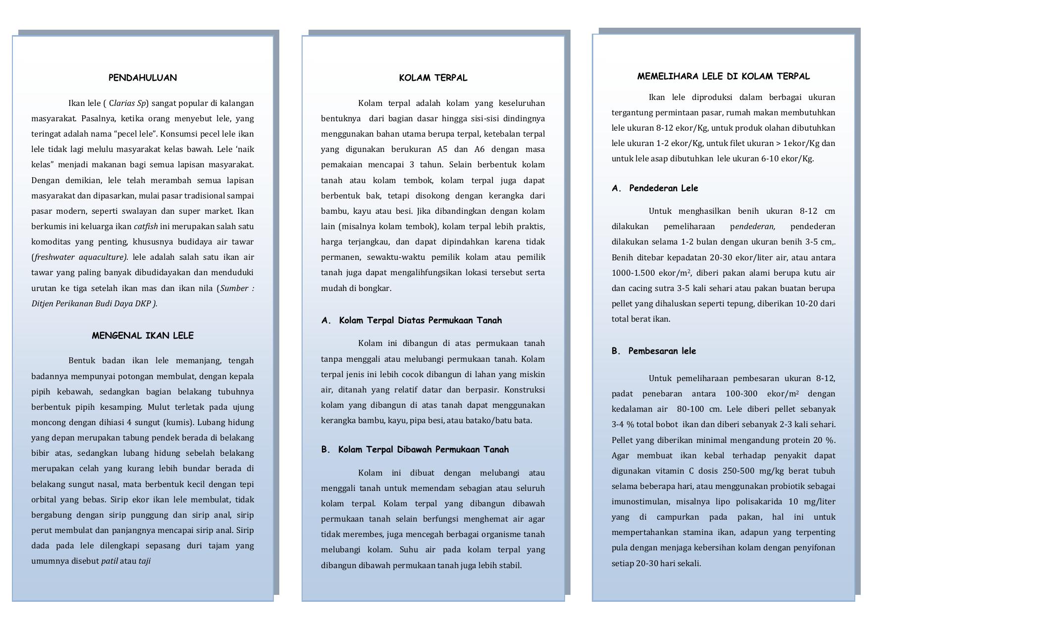 Contoh Proposal Budidaya Ikan Lele Kolam Terpal Berbagi Contoh Proposal