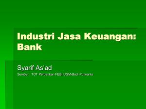 Pengantar Manajemen Perbankan