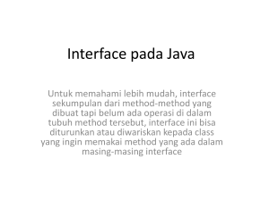 Interface pada Java