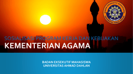 Business Project Plan - BEM Universitas Ahmad Dahlan