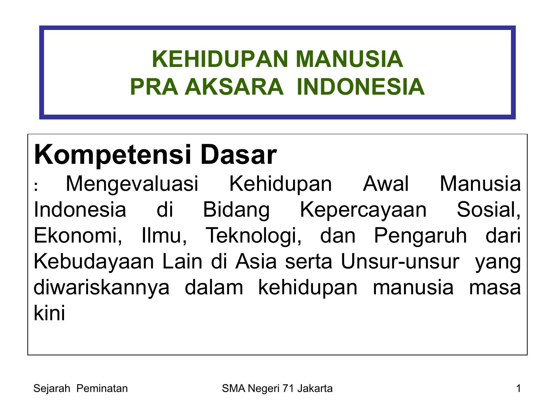 Kehidupan Manusia Pra Aksara Indonesia