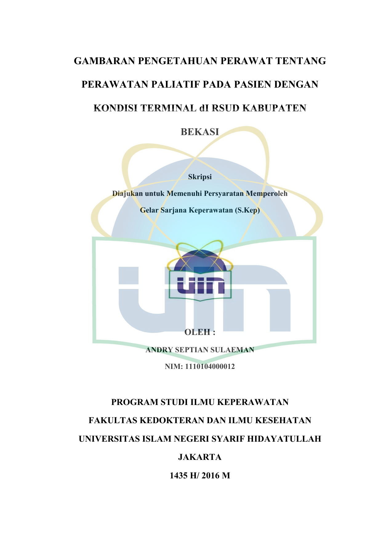 Skripsi Gambaran Pengetahuan Perawat Dalam 2019 08 09آ Skripsi Gambaran Pengetahuan Perawat Dalam Pemilahan Pdf Document