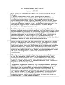 PYP 6A Bahasa Indonesia Report Comment Semester 1/2012