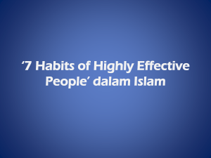 *7 Habits of Highly Effective People* dalam Islam