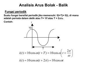 Analisis Arus Bolak
