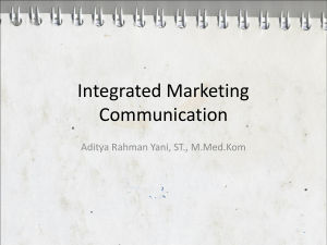 Integrated Marketing Communication - E