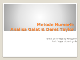 Metode Numerik - WordPress.com