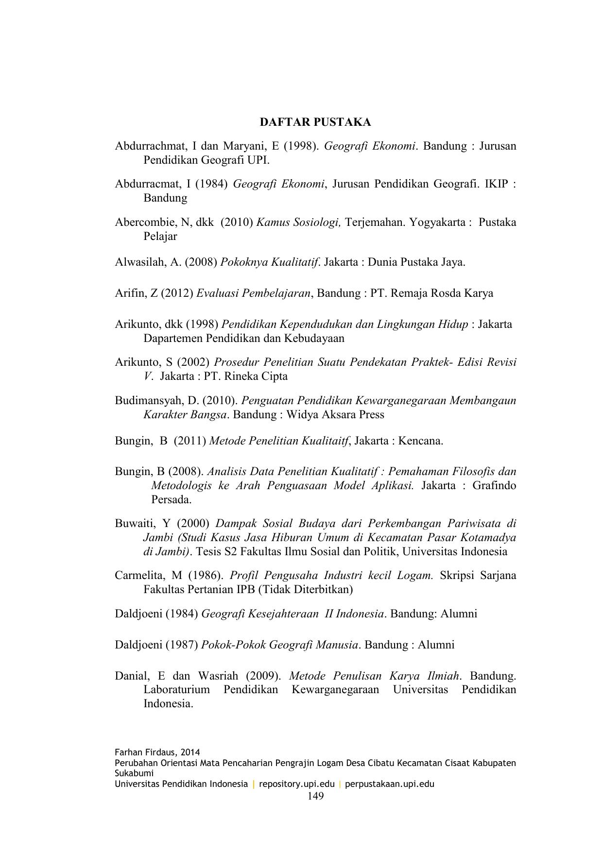 Daftar Pustaka Abdurrachmat I Dan Maryani E