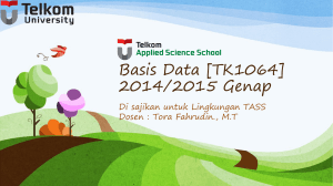 Apa itu Basis Data - Telkom University