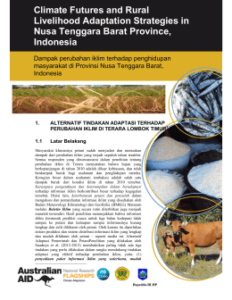Climate Futures and Rural Livelihood Adaptation Strategies in Nusa