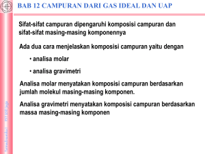 2. Campuran Gas Ideal dan Uap