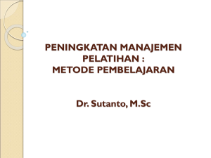 METHODOLOGY PELATIHAN