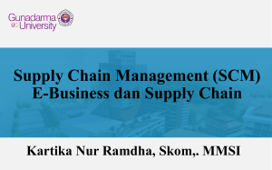 5_Supply Chain Management (SCM) – E