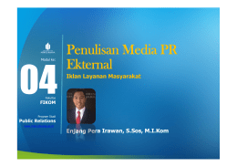 Penulisan Media PR Ekternal