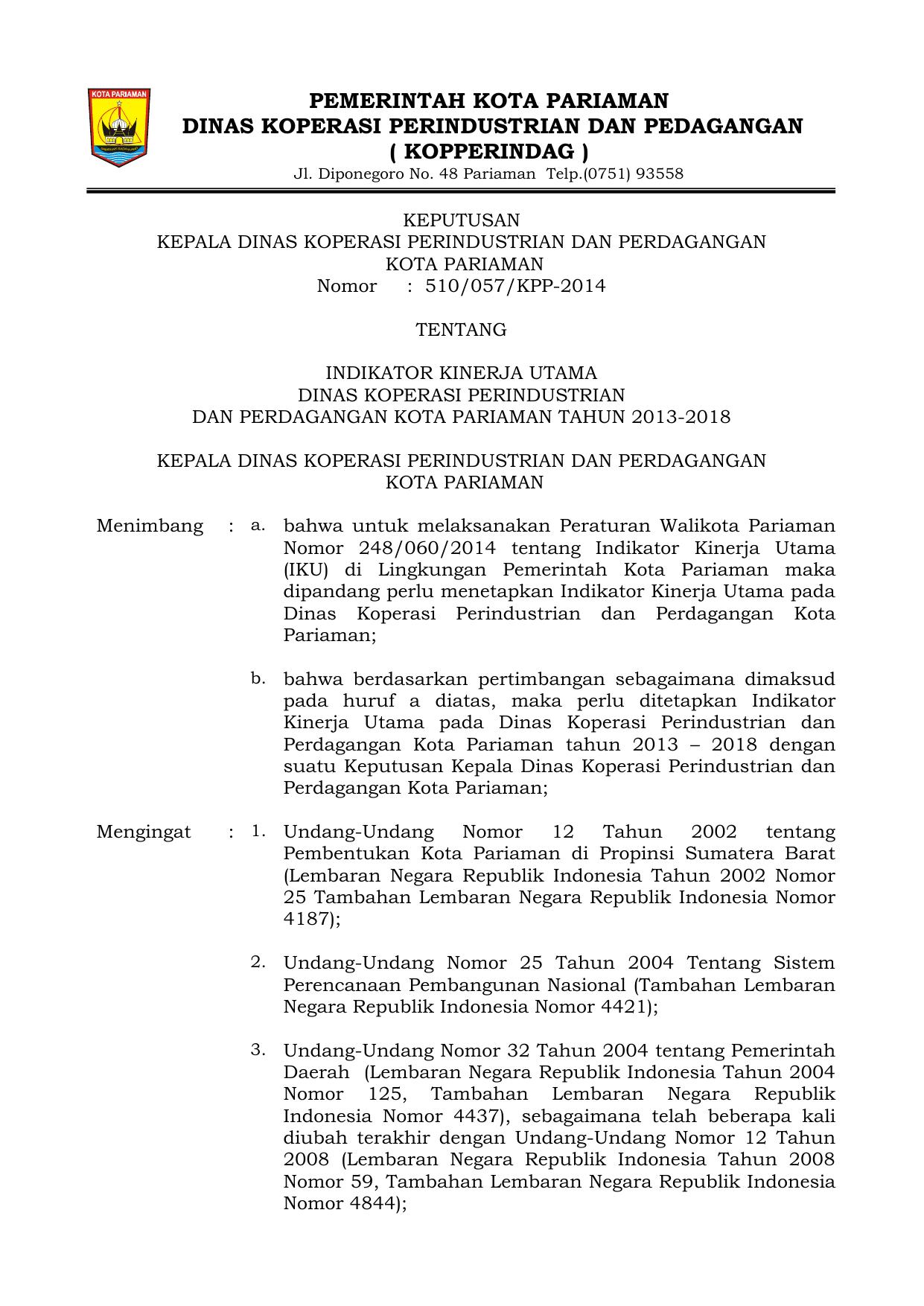 Pejabat Kementerian Perdagangan