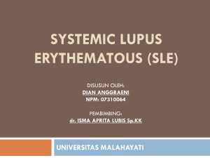 systemic lupus erythematous (sle)