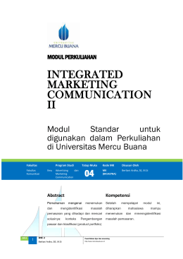 Modul Integrated Marketing Communications II [TM4]